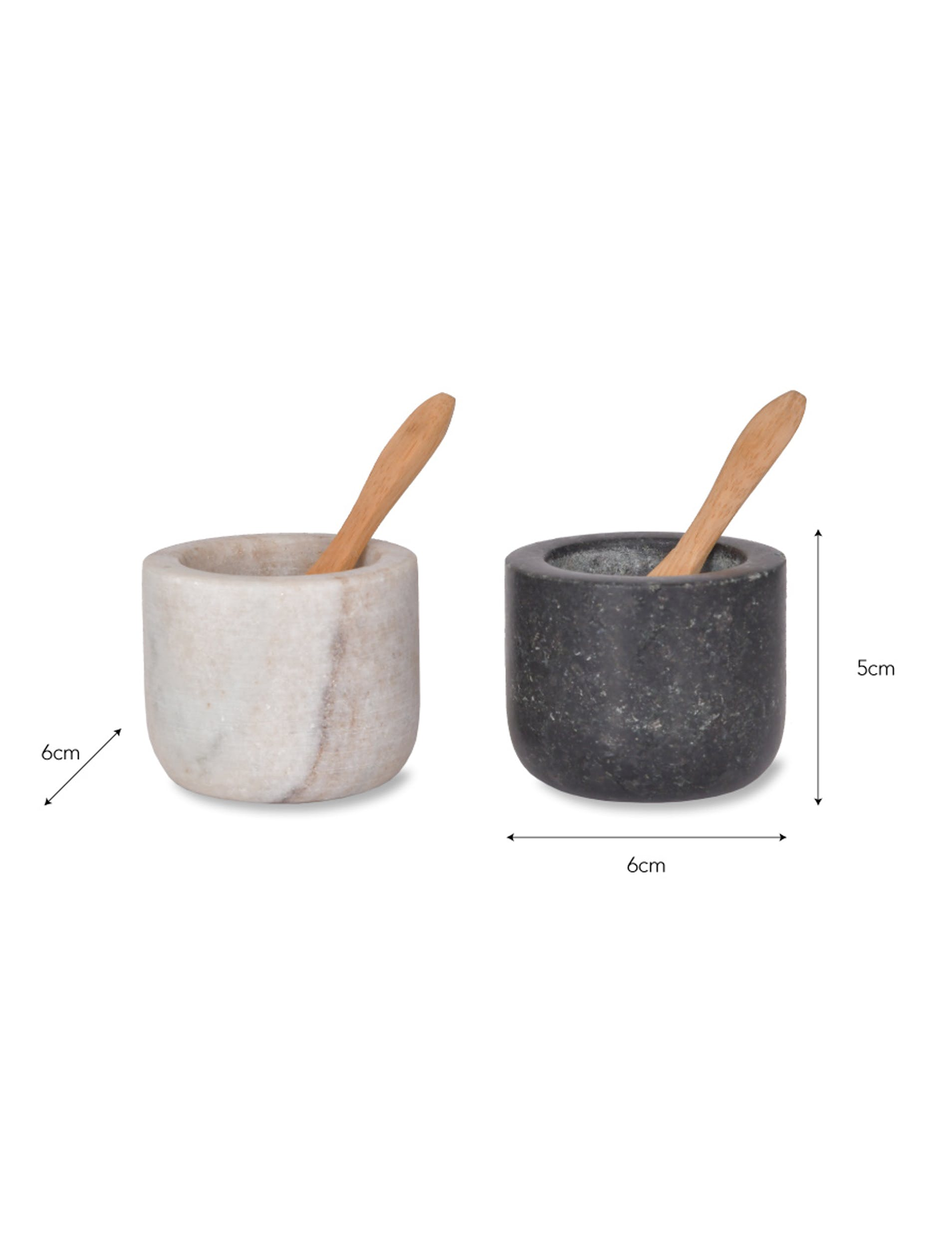 Marble and Granite Brompton Salt and Pepper Pots | Garden Trading