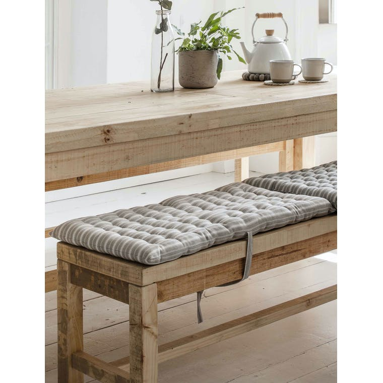 Garden Trading Small Stripe Bench Seat Pad