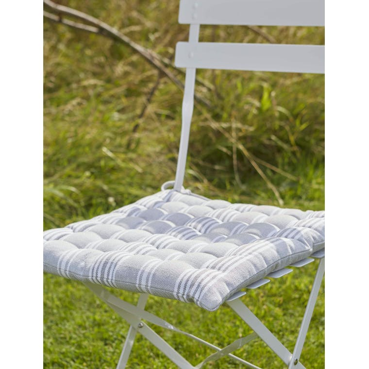 Garden Trading Seat Pad in Orchard Stripe - Cotton
