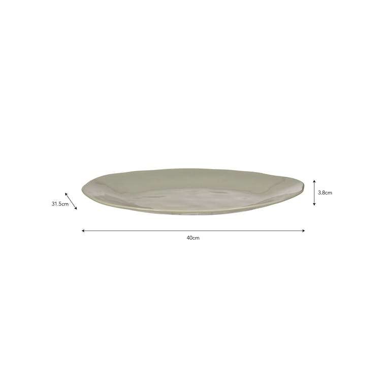 Ceramic Winderton Platter in Green | Garden Trading