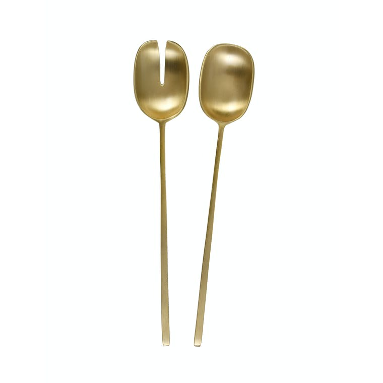 Brass Set of 2 Serving Spoons | Garden Trading
