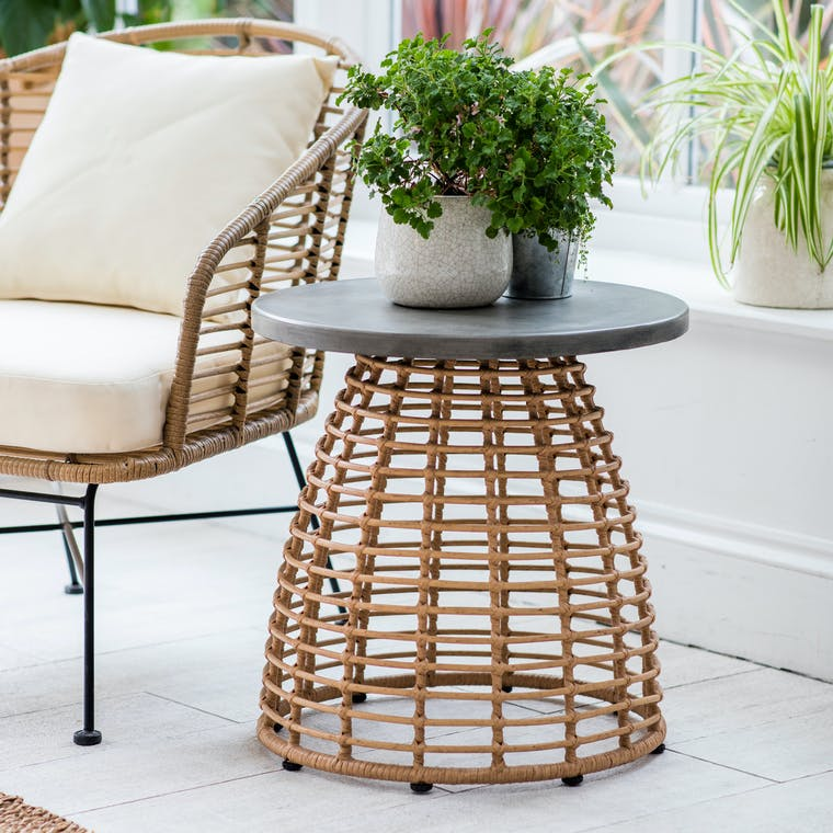 All-weather Bamboo Hampstead Indoor Side Table | Garden Trading