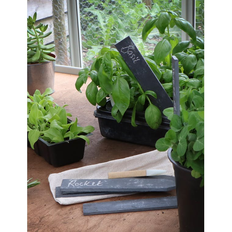 Slate Set of 6 Herb Plant Garden Tags| Garden Trading
