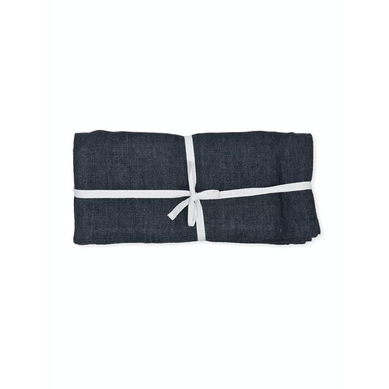 Linen Table Runner in Ink | Garden Trading