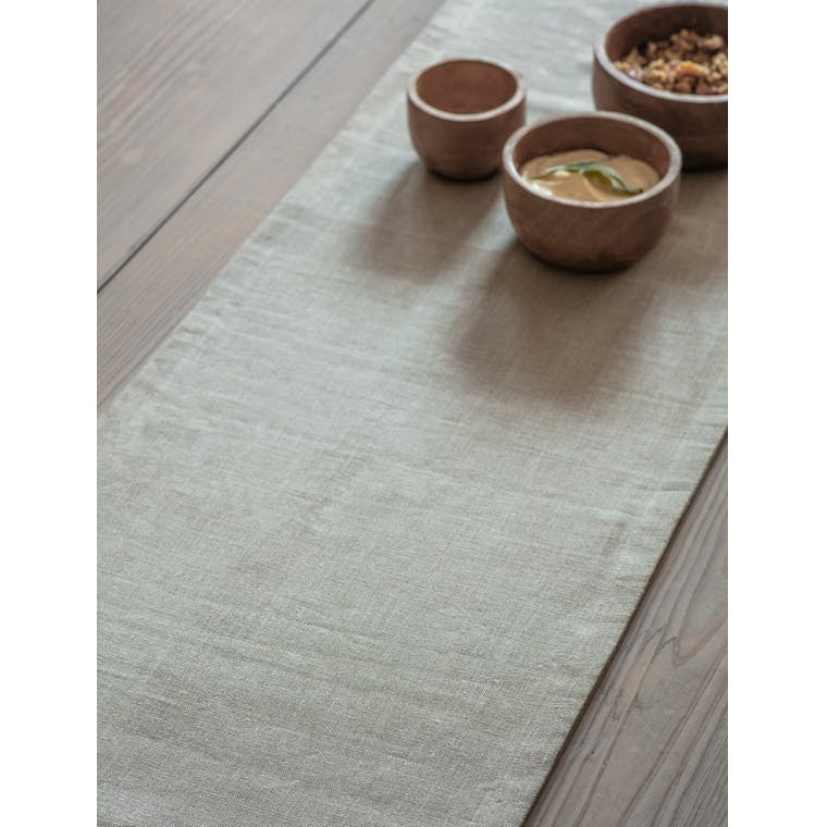 Garden Trading Table Runner in Natural - 250x36cm - Linen