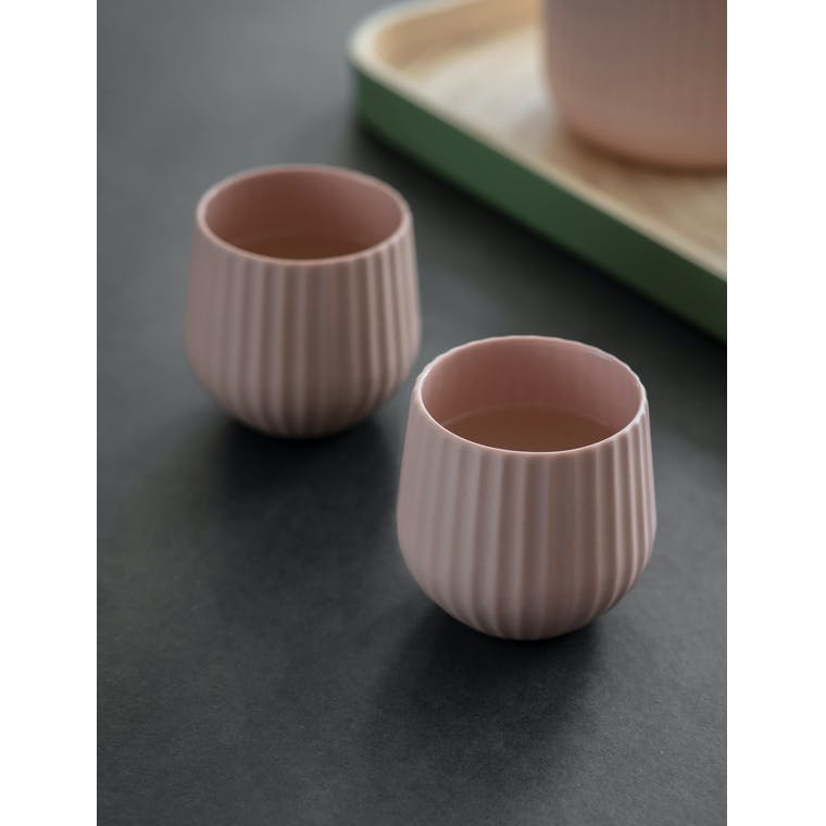 Garden Trading Pair of Linear Tumblers in Pink Gin