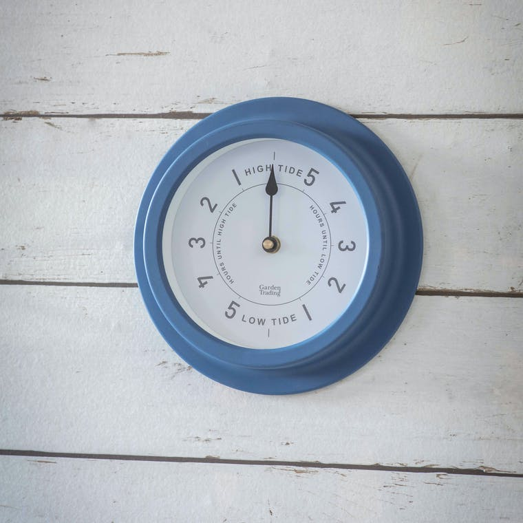 Steel Narberth Tide Clock in White or Blue | Garden Trading