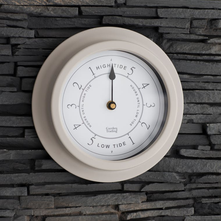 Outdoor Tide Clock in Grey | Garden Trading