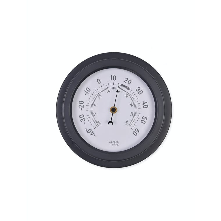 Steel Tenby Thermometer in Black, White or Blue | Garden Trading