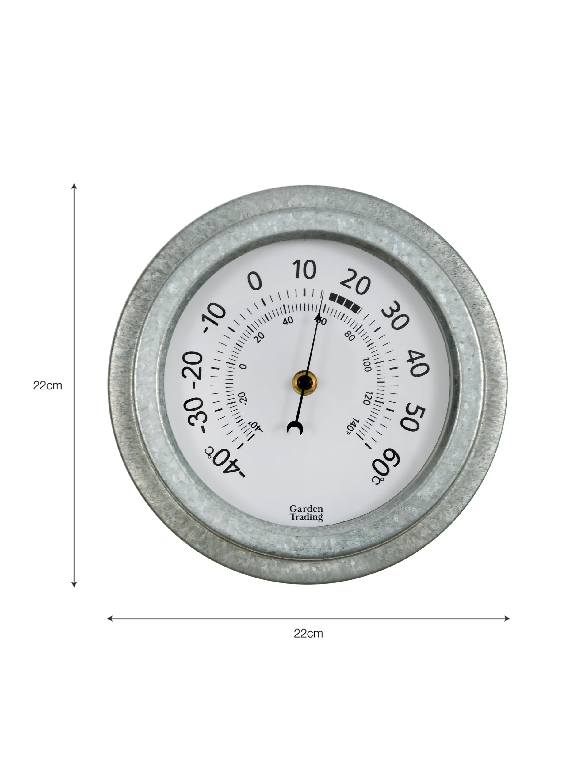 Galvanised St Ives Thermometer | Garden Trading