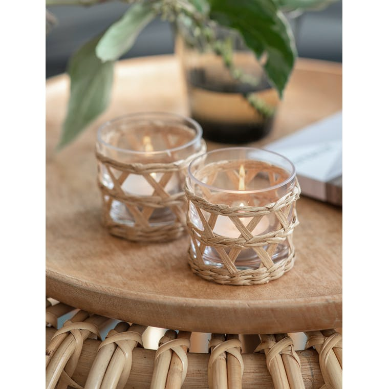 Pair of Portmore Tealight Holders by Garden Trading