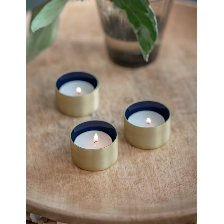 Set of 3 Fulwell Tealight Holders in Ink by Garden Trading
