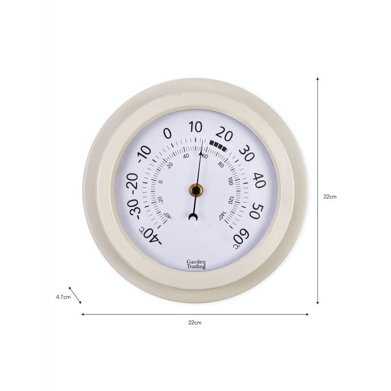 Steel Tenby Thermometer in Black, White or Blue   Garden Trading