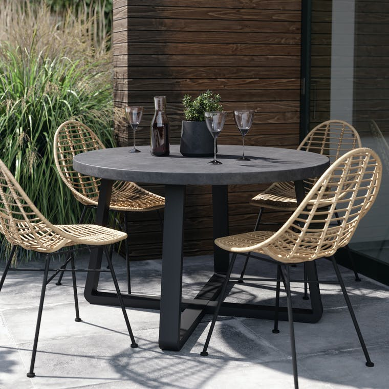 Steel and Cement Talland Outdoor Table | Garden Trading