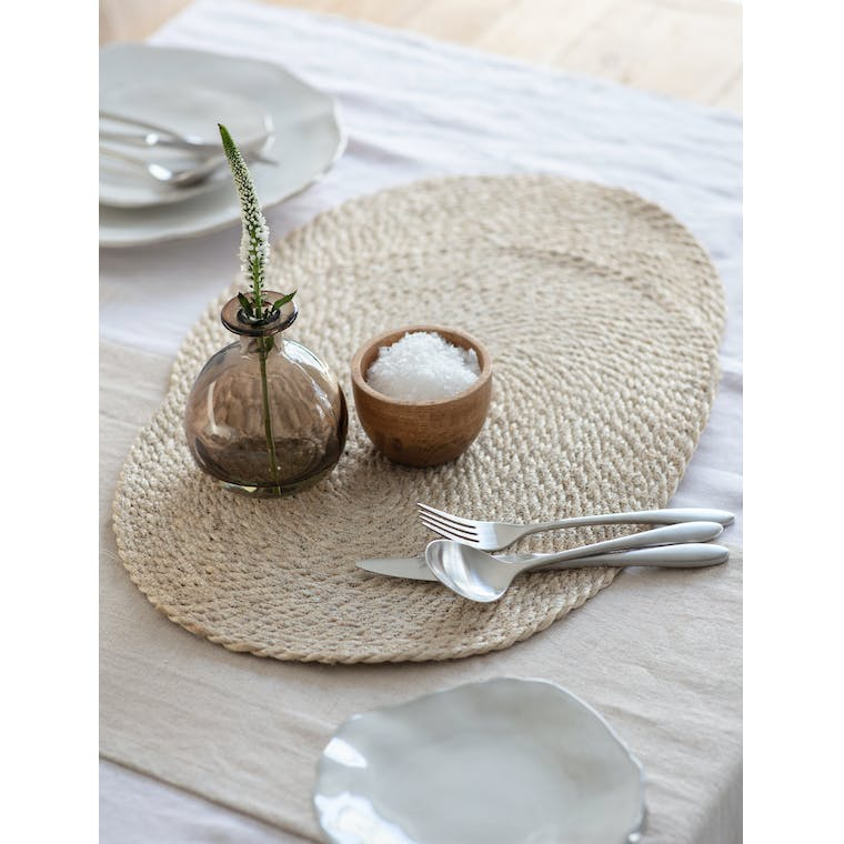 Pair of Jute Table Mats in Natural by Garden Trading