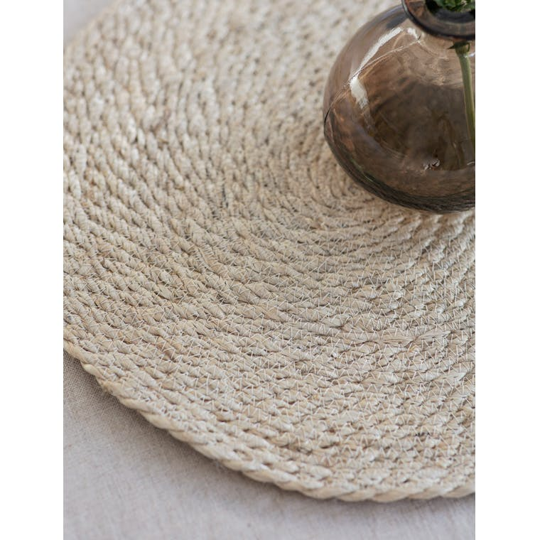 Pair of Jute Table Mats in Natural or Black | Garden Trading
