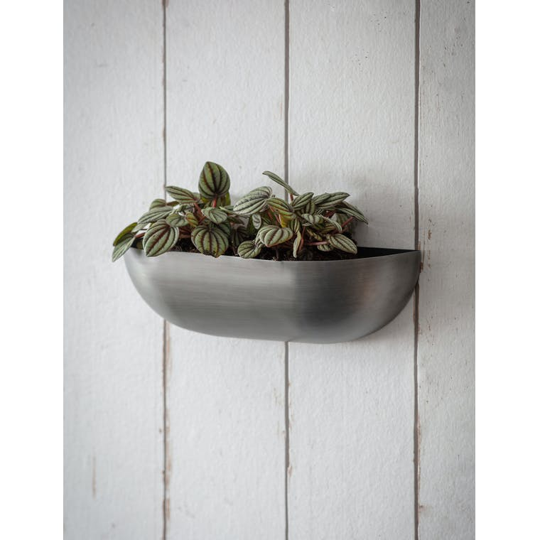 Garden Trading Wall Trough Planter, Small - Antique Pewter