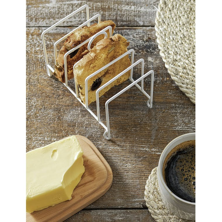 Steel Toast Rack in White or Bronze | Garden Trading