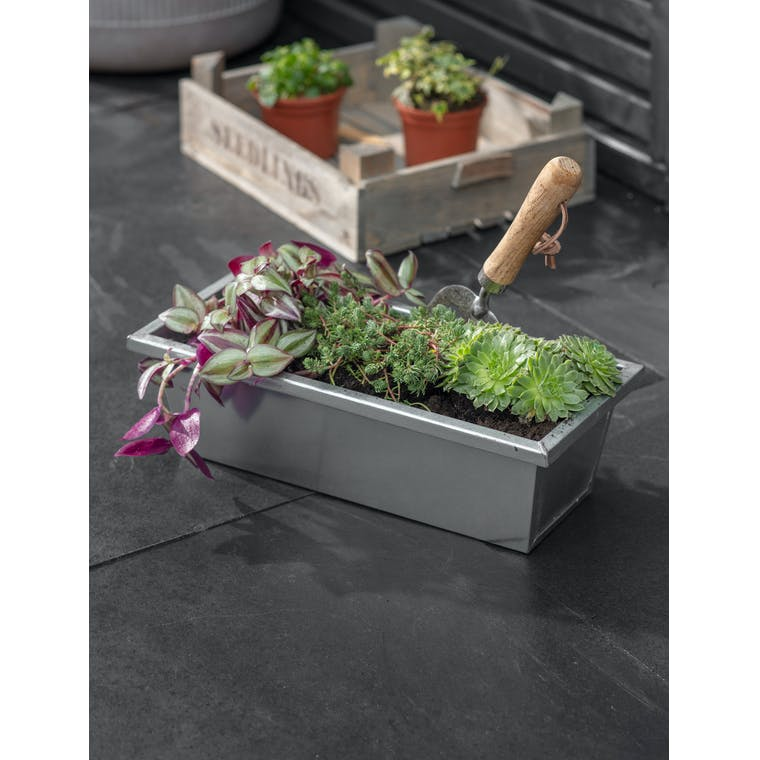 Galvanised Steel Plant Trough, Small by Garden Trading