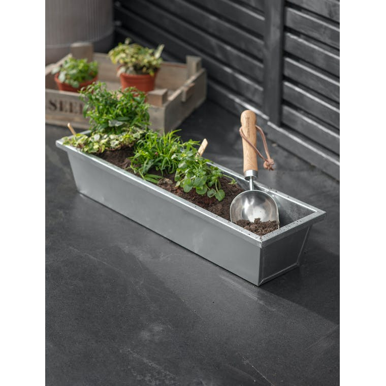 Galvanised Steel Plant Trough, Large by Garden Trading