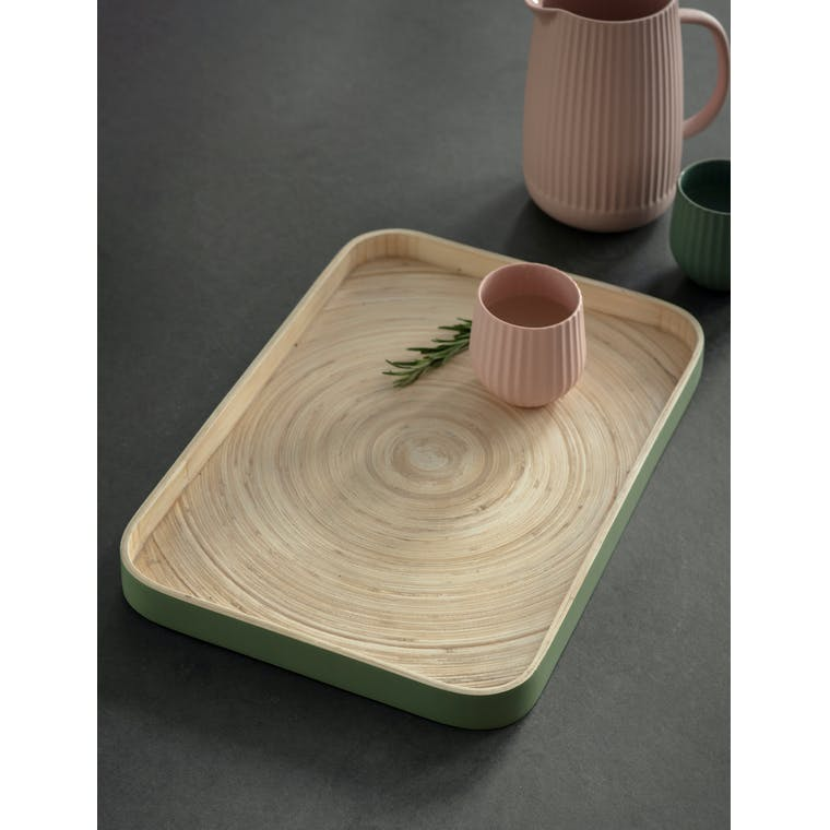 Garden Trading Purbeck Tray in Sage - Bamboo