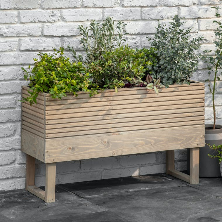 Wooden Foxmore Trough in Small or Large | Garden Trading