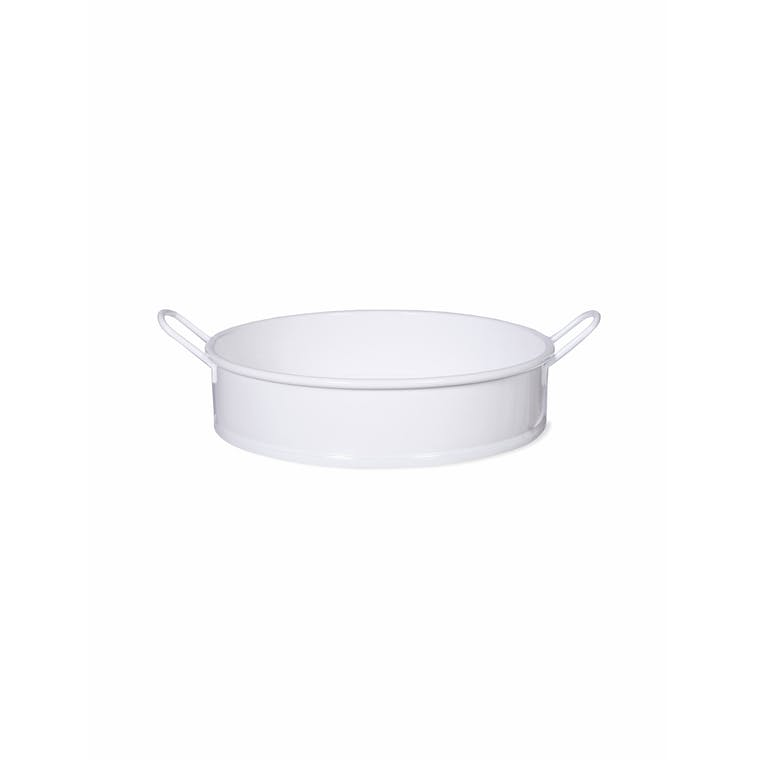 Steel Round Tray in White | Garden Trading