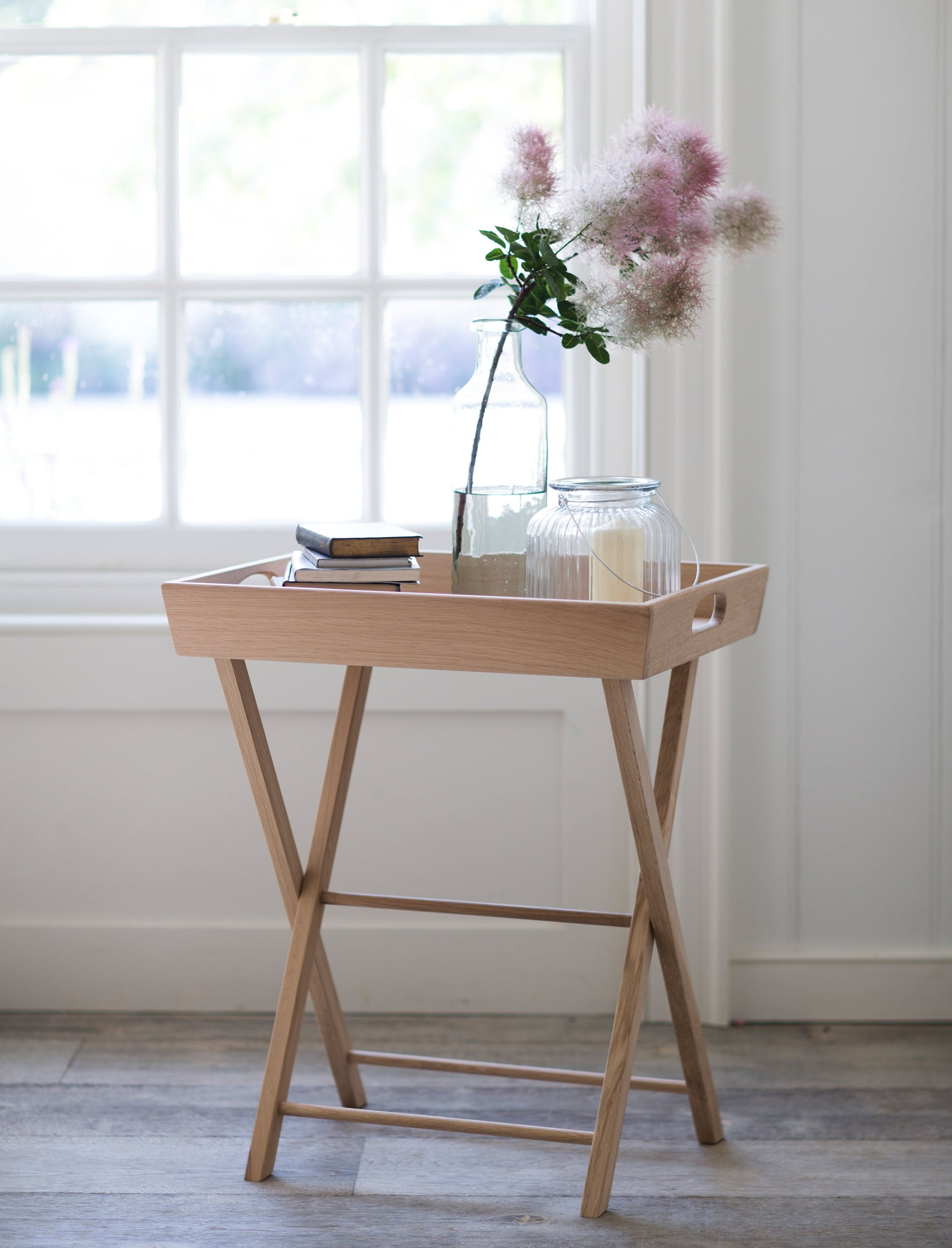 Oak Folding Hambledon Butlers Tray in Small or Large | Garden Trading