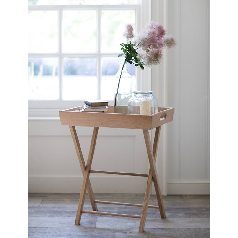 Oak Folding Hambledon Butlers Tray in Small | Garden Trading