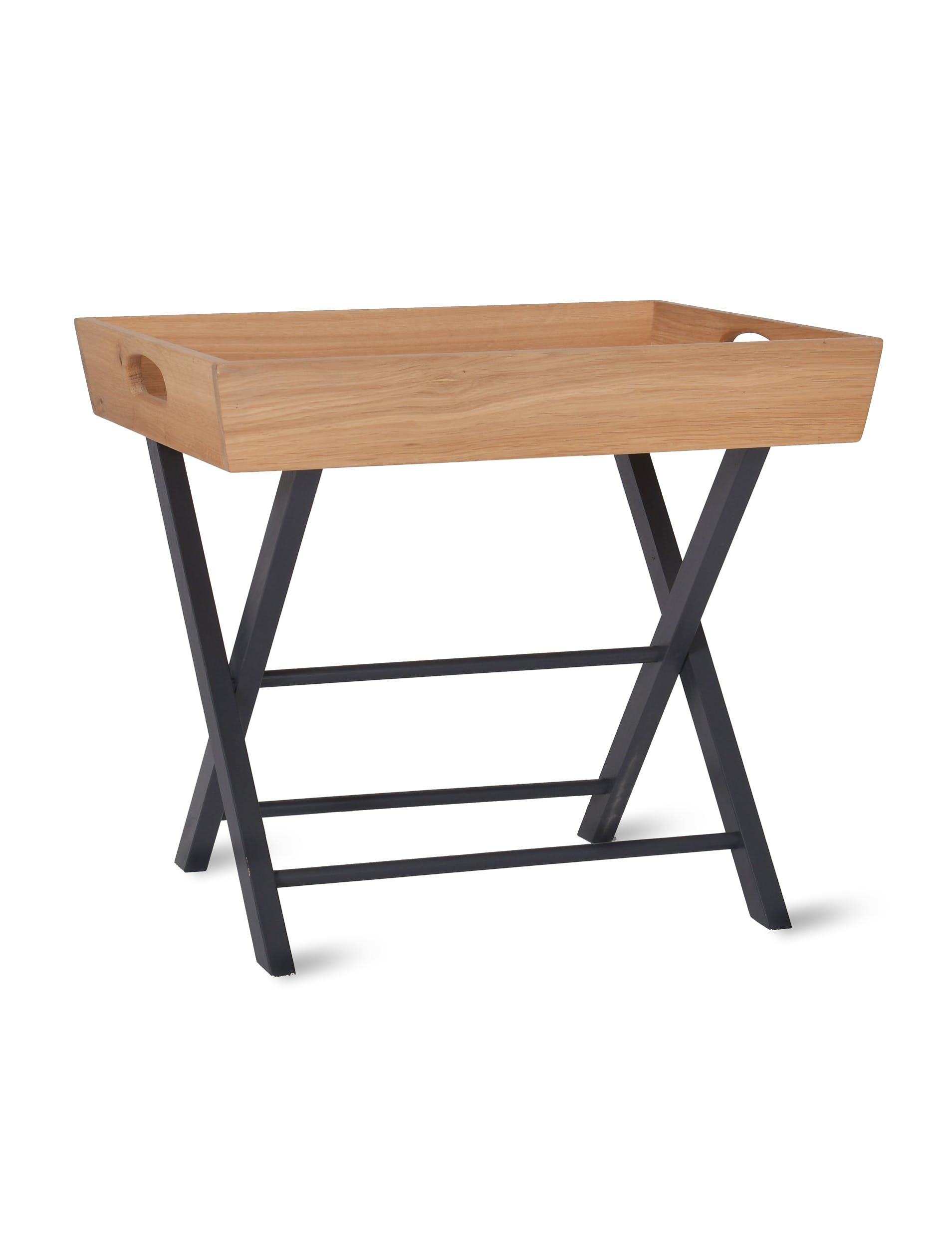 Oak Butlers Side Table in Black | Garden Trading