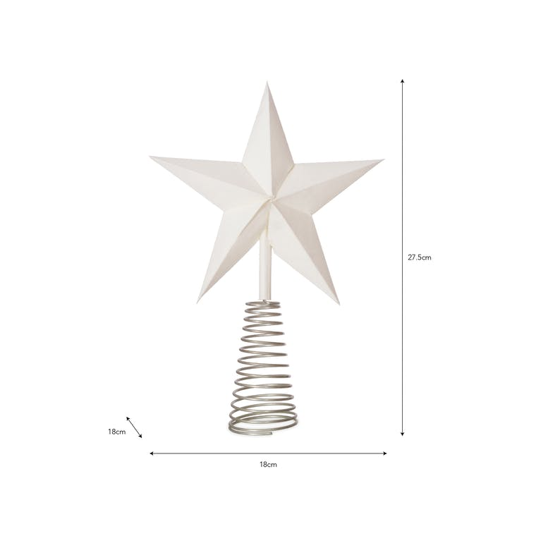 Paper Maddox Star Tree Topper in Blue or White   Garden Trading
