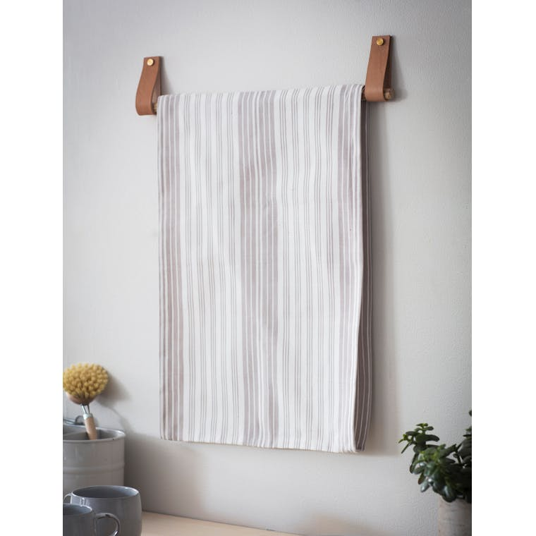 Cotton Set of 2 Looped Tea Towels in Grey or Blue | Garden Trading