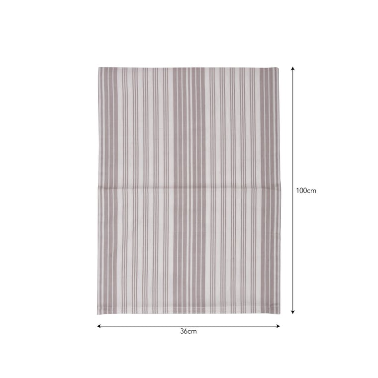 Cotton Set of 2 Looped Tea Towels in Grey Stripe or Blue | Garden Trading