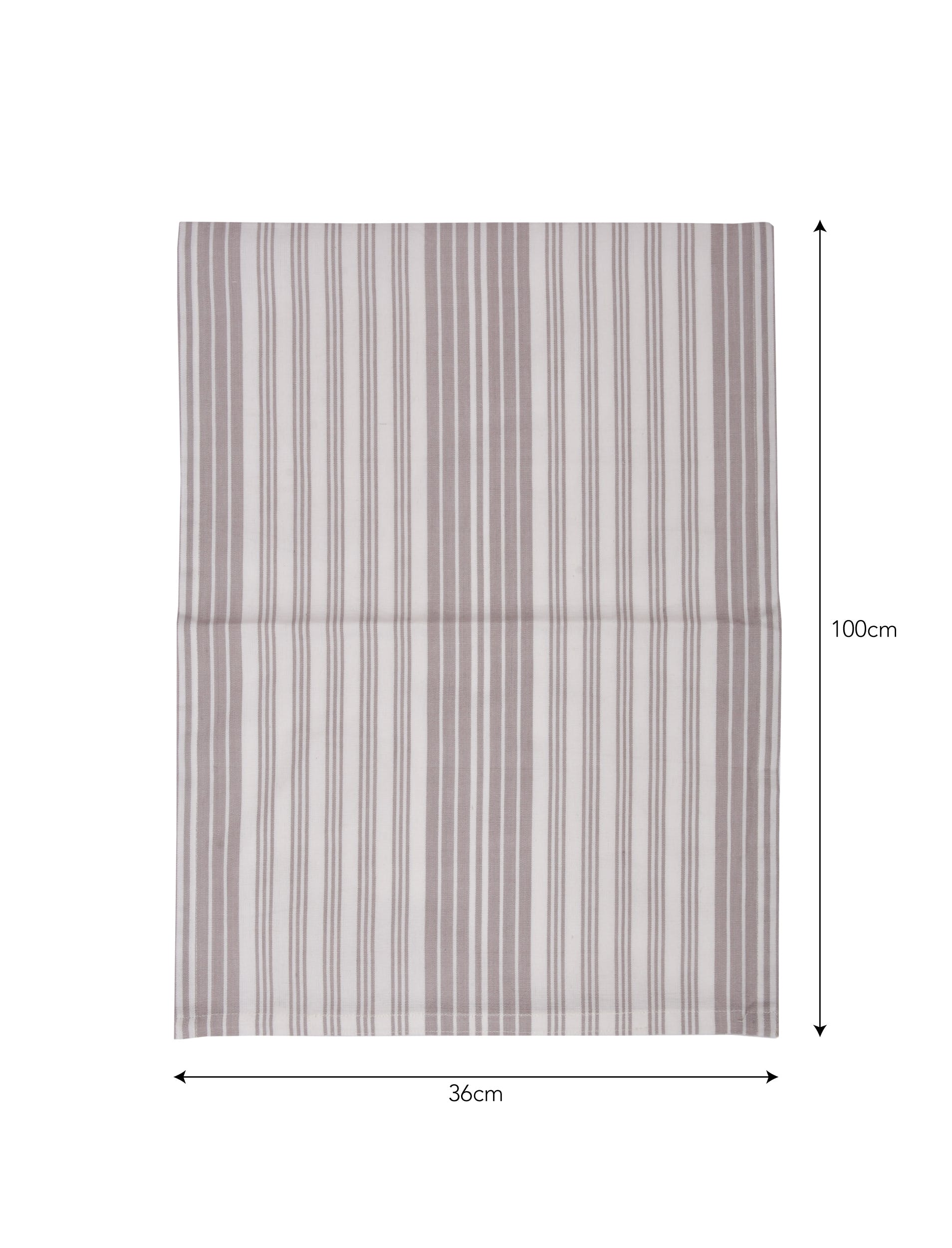 Set of 2 Looped Cotton Tea Towels in Grey Stripe  | Garden Trading