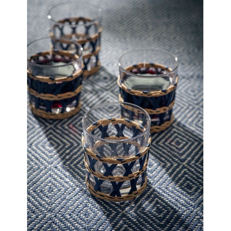Garden Trading Set of 4 Portmore Tumblers in Ink