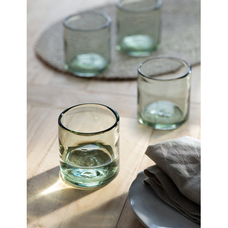 Set of 4 Wellow Tumblers, Short by Garden Trading