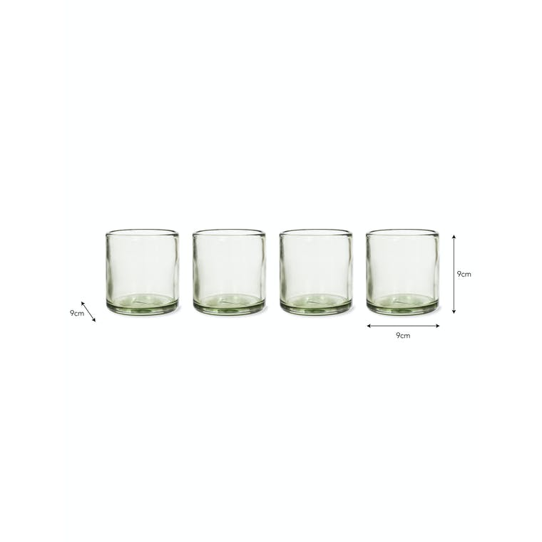 Recycled Glass Set of 4 Tumblers in Short or Tall | Garden Trading