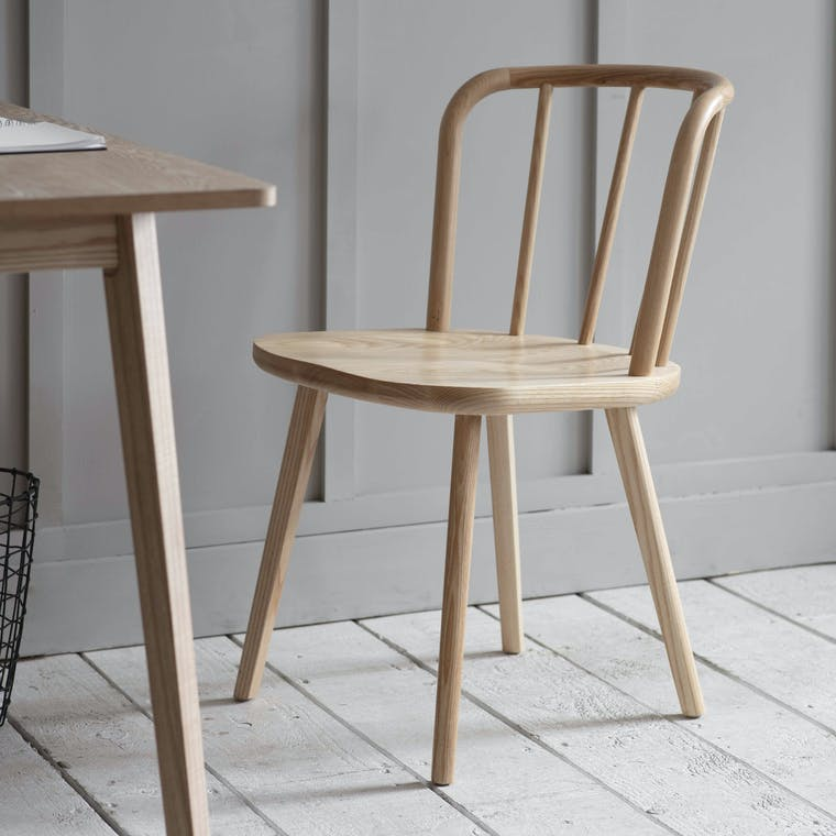 Wooden Uley Chair in Natural, Black or White | Garden Trading