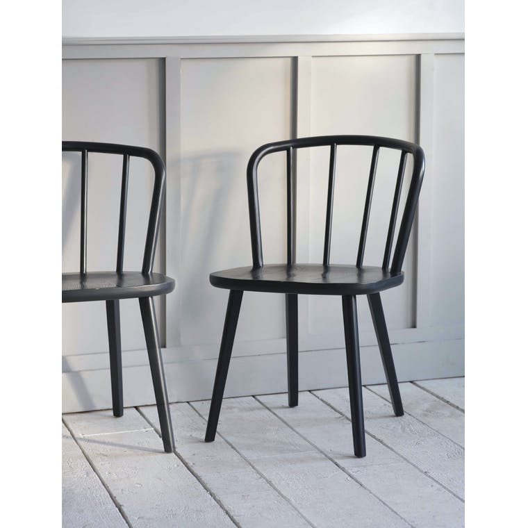 Garden Trading Pair of Uley Chairs in Carbon