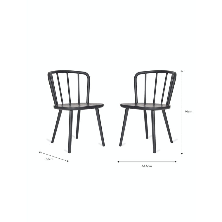 Wooden Pair of Uley Chairs | Garden Trading