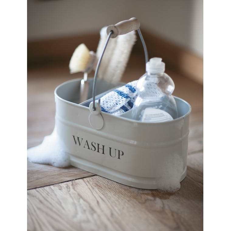 Steel Wash Up Tidy in White | Garden Trading