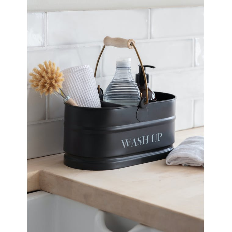 Steel Wash Up Tidy in White or Black | Garden Trading