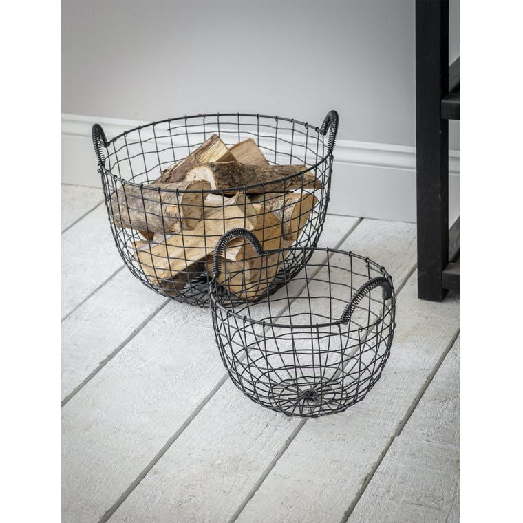 Garden Trading Small Wire Storage Basket with Handles