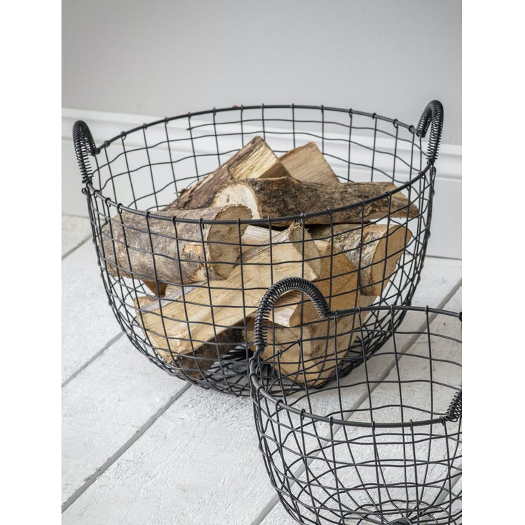 Garden Trading Large Wire Storage Basket with Handles