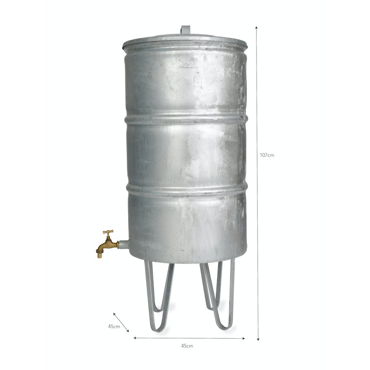 Galvanised Steel Outdoor Water Butt | Garden Trading