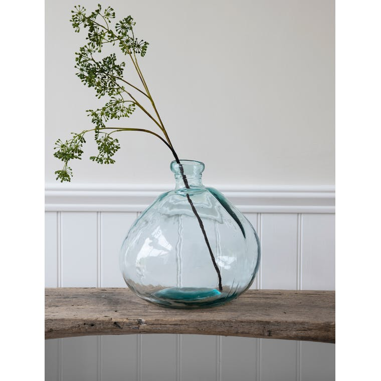 Recycled Glass Wells Bubble Vase in Wide or Wide XXL | Garden Trading
