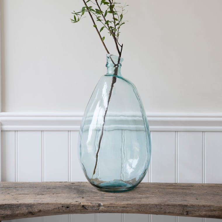 Recycled Glass Wells Bubble Vase, Tall  | Garden Trading