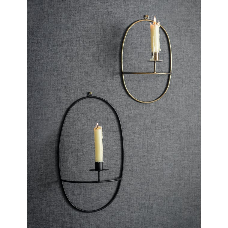 Steel Curzon Wall Candle Holder   Garden Trading