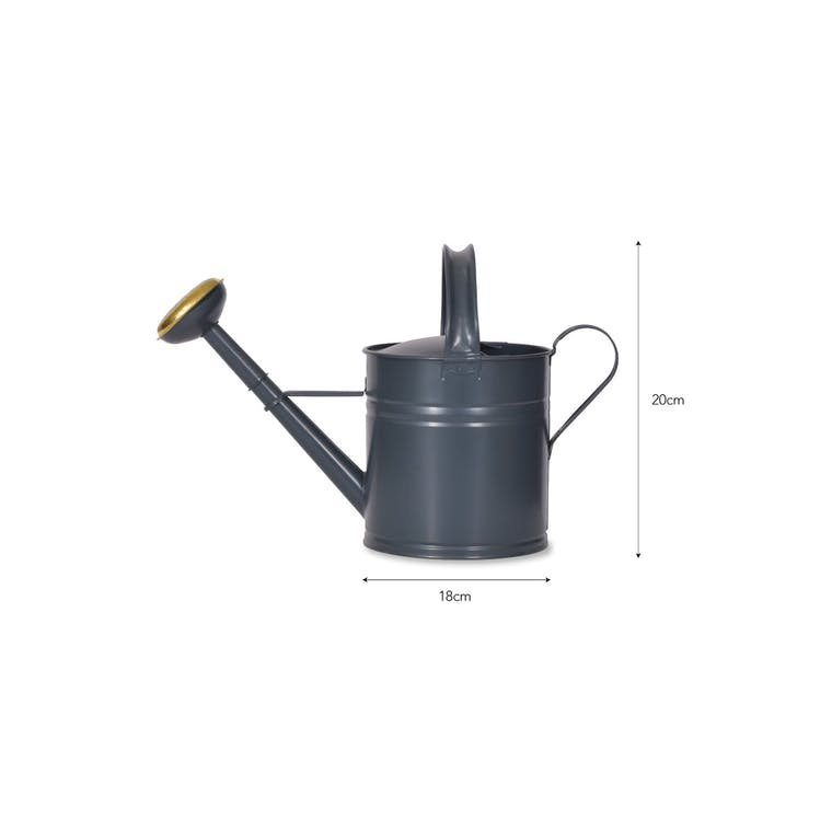 Steel and Brass 5L Watering Can in Green or Black | Garden Trading