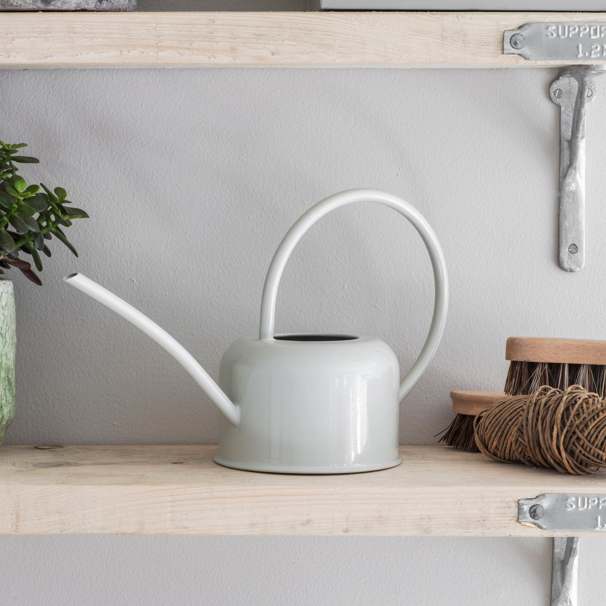 Galvanised 1.1L Indoor Watering Can in White or Grey   Garden Trading